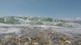 Sea Waves Crashing To beach. Sea Waves Crashing To Camera holiday amazing sunny day time to enjeot stock video footage