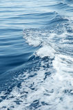 Sea. Waves created by the ship Royalty Free Stock Photos