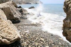 Sea waves. Cyprus Royalty Free Stock Image