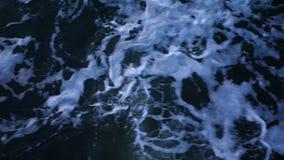 Sea waves of dark blue slowmotion stock video