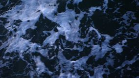 Sea waves of dark blue slowmotion stock video footage