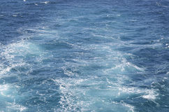Sea waves from the engine of the boat. Royalty Free Stock Image