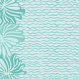 Sea, waves and flowers. Sea and background of sea waves and flowers Royalty Free Stock Photo