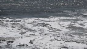 Sea waves go to the shore. Sea waves go to the shore stock video footage