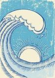 Sea waves. Grunge Royalty Free Stock Image