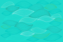 Sea waves illustration. Elements for design Royalty Free Stock Images