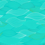 Sea waves illustration. Wallpaper seamless textile surface patte Royalty Free Stock Photo