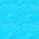 Sea waves illustration. Wallpaper seamless textile surface patte Stock Image