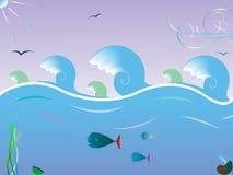 Sea waves landscape Stock Photography