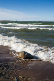 Sea waves lapping on the shore. Royalty Free Stock Photos