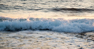 Sea waves late in the evening Royalty Free Stock Photo
