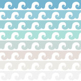 Sea waves. Multicolored seamless vector pattern. Stock Images