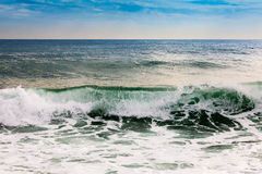 Sea waves  n strong wind Stock Images