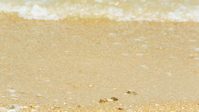 Sea Waves over Sand Beach Holiday Background HD stock video