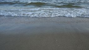 Sea Waves over Sand Beach Holiday Background Stock Photography