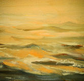 Sea waves, painting by oil on canvas Stock Image