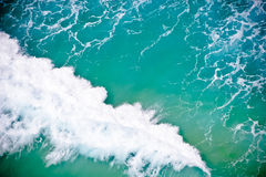Sea waves. Powerful wave curls in a background image Stock Photos
