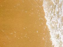 Sea waves reaching lapping to shore Royalty Free Stock Photos