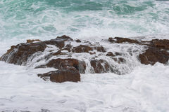 Sea waves and rock Royalty Free Stock Image