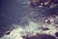 Sea,waves and rocks Royalty Free Stock Image