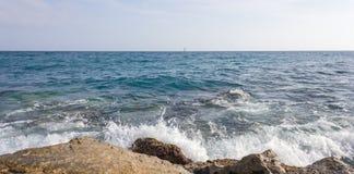 Sea waves and rocks Royalty Free Stock Photo