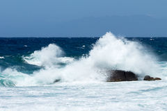 Sea with Waves and Rocks Stock Photography