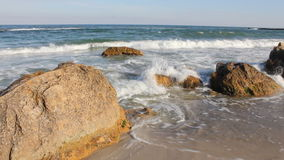 Sea waves on the rocky shoreline Stock Image