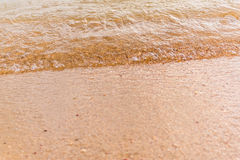 Sea waves on the sand Royalty Free Stock Images