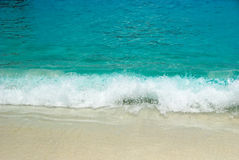 Sea waves and sandy beach Royalty Free Stock Photography