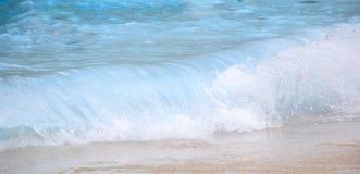 Sea waves on a sandy beach Royalty Free Stock Photos
