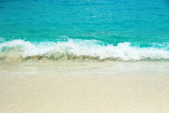 Sea waves and sandy beach Royalty Free Stock Images