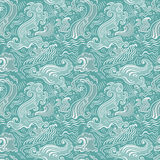 Sea waves.  Seamless background Stock Photos