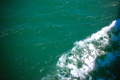 Sea and the waves from  ship sailing Royalty Free Stock Photography