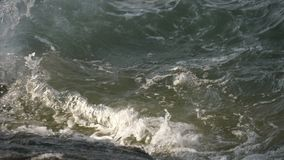 Sea waves slow motion. Sea waves splashing slow motion stock video