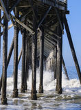Poles of San Simeon Pier Royalty Free Stock Photo