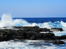 Sea waves stock image