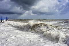 Sea waves during the storm Stock Photography