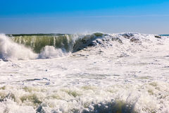 Sea waves during storm Royalty Free Stock Photos