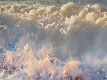 Sea waves during a storm. Water boils at shore a force of nature Stock Photography