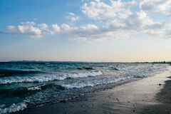 Sea waves. The waves of the sea in the summer in Odessa stock photos