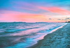 Sea waves at sunset Royalty Free Stock Images