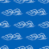 Sea waves and surf seamless pattern Stock Image