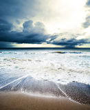Sea waves. Tropical hurricane cyclone royalty free stock photo