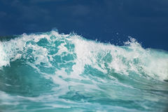 Sea waves. Tropical sea waves and water foam stock photo