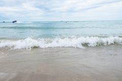 Sea waves washing ashore at the beach Royalty Free Stock Photos