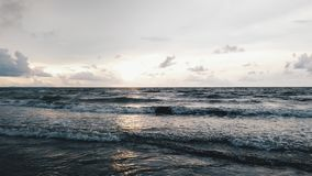 Sea Waves on White and Gray Sky at Daytime Stock Photo