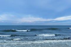 Sea, waves, wind stock photo