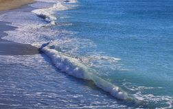Sea waves in winter. Panorama with sea waves in winter Stock Photos