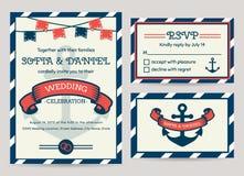 Sea wedding invitation. Vector templates. vector illustration
