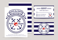 Sea wedding invitations. Stock Image